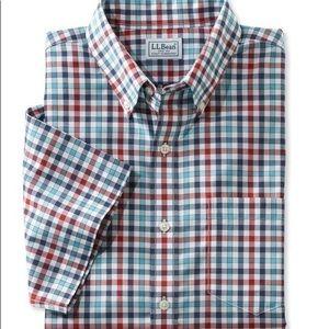 Ll bean wrinkle free traditional check shirt xl